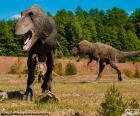 Trzy dinozaury