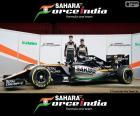Sahara życie Indii F1 2016, założony przez Nico Hülkenberg, Sergio Pérez i nowe VJM09