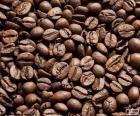 Palonych ziaren kawy
