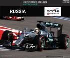 Lewis Hamilton, drugi w Grand Prix Rosji 2016 z jego Mercedes