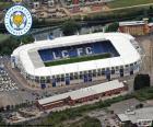 Stadion z Leicester City Football Club, King Power Stadium o pojemności 32.262 widzów, Leicester, Anglia