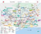 Mapa metra w Barcelonie