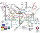 Mapę Metro w Londynie