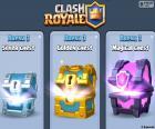 Trzy oryginalne skrzynie w grze, silver, gold i magii, dostać im wygrać bitwę i będą one znaleźć litery