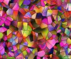 Geometria wielokątów o różnych kształtach i kolorach. Wielokąt jest postacią z płaskim prosto jednostronne