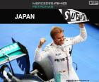 Nico Rosberg obchodzony dziewiąte zwycięstwo w sezonie w Grand Prix Japonii 2016