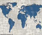 Puzzle mapę świata