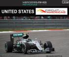 Nico Rosberg, drugie miejsce w Grand Prix Stanów Zjednoczonych 2016, z jego Red Bull