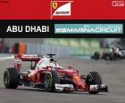 Sebastian Vettel, trzeci w Grand Prix Abu Zabi 2016, pilotowanie jego Ferrari