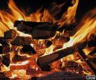 Pożar w kominek