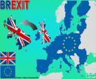 Brexit jest proces polityczny na z wyjazd z Wielką Brytanię z Unii Europejskiej, rozpoczęte przez referendum w czerwcu 2016