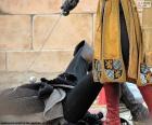 Pojedynek pomiędzy średniowiecznych Rycerzy