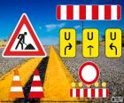 Roboty drogowe znaki