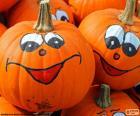 Zabawne dynie malowane na Halloween
