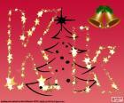 Boże Narodzenie tło, litera K