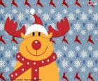 Rysunek z renifer Rudolf