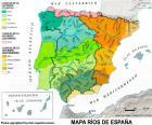 Mapa rzek w Hiszpanii