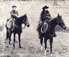 Dwie kobiety cowboy