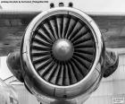 Obraz z turbiną samolot