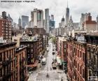 Widok ulicy w Manhattan