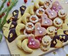 Asortyment ciasteczka świąteczne