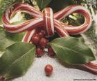 Wstążka łuk cane Boże Narodzenie