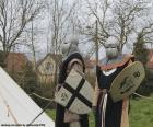 Dwóch żołnierzy średniowiecza
