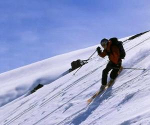 Układanka Region Telemark jest techniką, która urodziła się w 1825 roku, uważany za ojca narciarstwa klasycznego