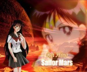 Układanka Rei Hino zmienia się w Sailor Mars, Czarodziejka z Marsa