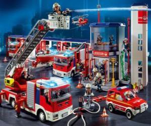 Układanka Remiza strażacka