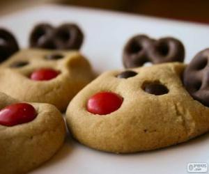 Układanka Renifery świąteczne ciasteczka