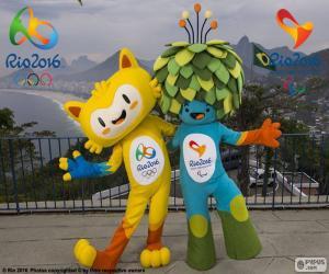 Układanka Rio 2016 Olimpijskie maskotki