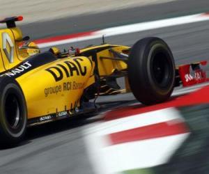 Układanka Robert Kubica - Renault - Barcelona 2010