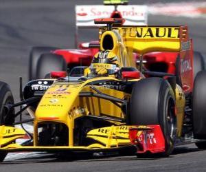 Układanka Robert Kubica - Renault F1 - Silverstone 2010
