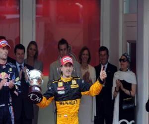 Układanka Robert Kubica - Renault - Monte Carlo 2010 (3 pozycję)