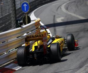 Układanka Robert Kubica - Renault - Monte-Carlo 2010
