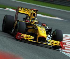 Układanka Robert Kubica - Renault - Spa-Francorchamps 2010