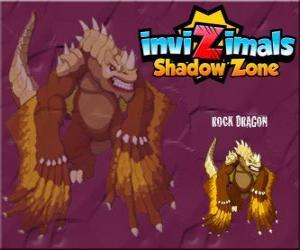 Układanka Rock Dragon. Invizimals Następny wymiar. Skalne smoki żyją w kraterach wulkanów