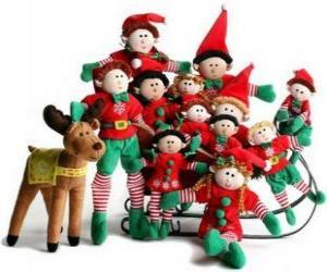 Układanka Rodziny Elfs z jego reniferów