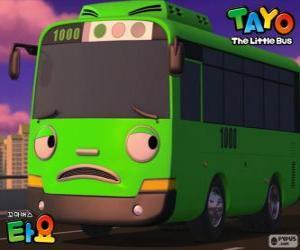 Układanka ROGI jest śmieszne i złośliwy zielony autobus