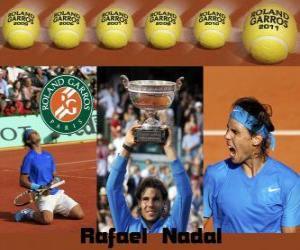 Układanka Roland Garros mistrz Rafael Nadal 2011
