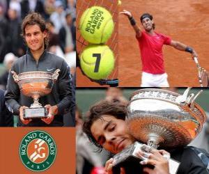 Układanka Roland Garros mistrz Rafael Nadal 2012