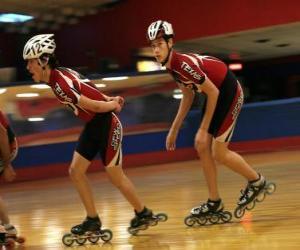 Układanka Rolki Inline skater