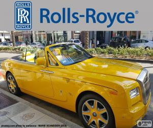 Układanka Rolls-Royce żółty