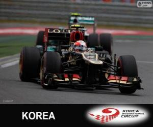 Układanka Romain Grosjean - Lotos - Grand Prix Korei 2013, 3 sklasyfikowane