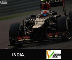 Układanka Romain Grosjean - Lotos - Grand Prix Indii 2013, 3 sklasyfikowane