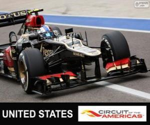 Układanka Romain Grosjean - Lotos - Grand Prix Stanów Zjednoczonych 2013, 2 ° sklasyfikowane