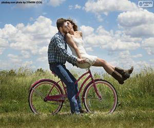 Układanka Romantyczną przejażdżkę rowerem