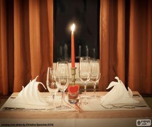 Układanka Romantyczna kolacja