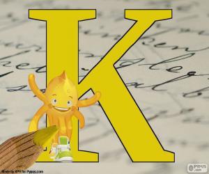 Układanka Rosyjski litery К